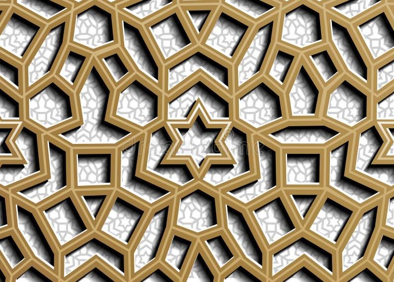 r 伊斯兰教的样式 阿拉伯,东部装饰品,印度装饰品,波斯主题,3D ramadan?kareem 皇族释放例证