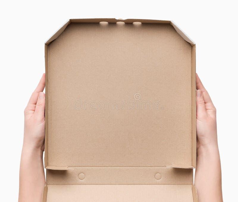 r 传讯者藏品空的纸板箱 库存照片