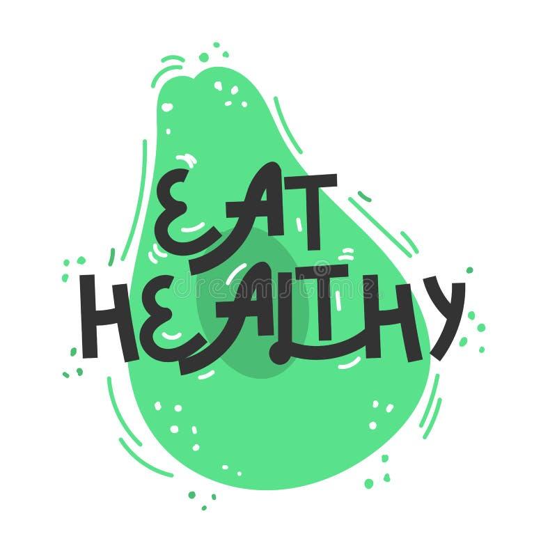 : r 关于健康吃的行情 对海报、T恤杉,明信片等 皇族释放例证