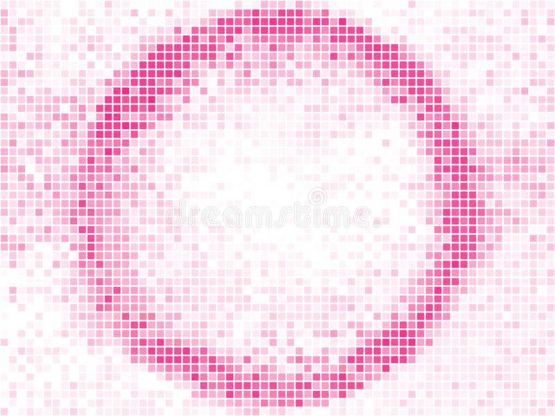 r 圆的方形的映象点马赛克传染媒介横幅 抽象轻的形状框架 皇族释放例证