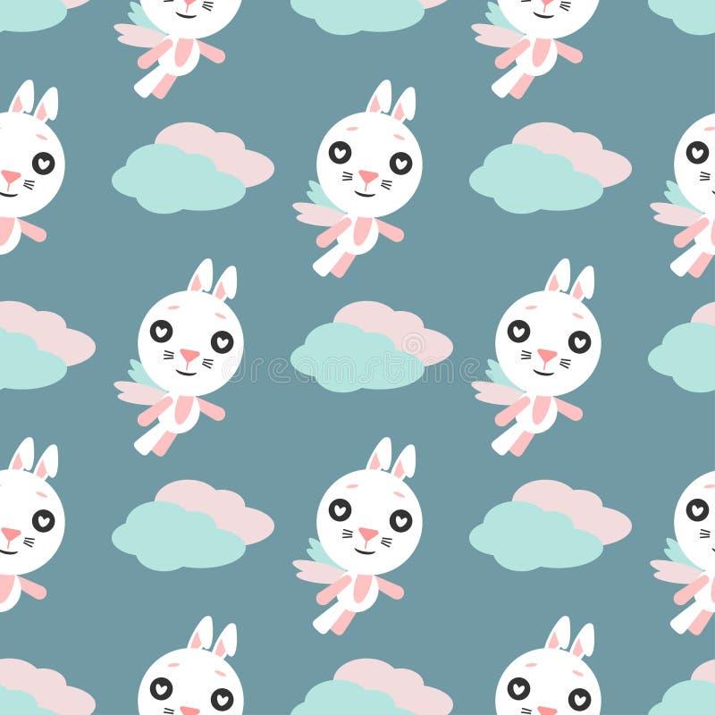 r 在爱的兔子,动画片兔宝宝 向量例证