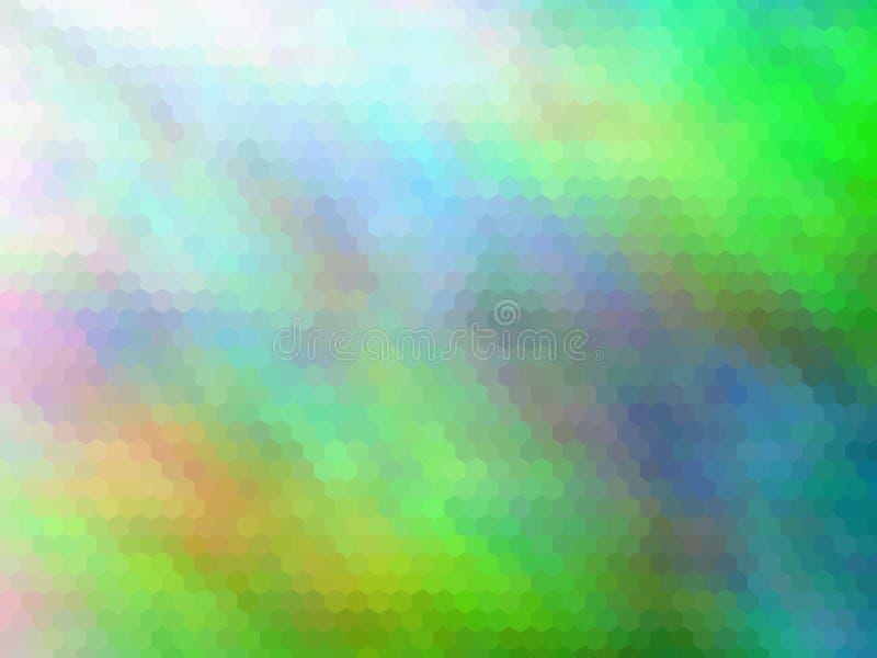 r 多色六角pixeled抽象背景 向量例证