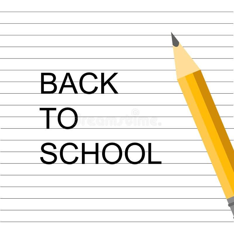 r 学校设计 在笔记本的铅笔 回到学校字法 向量例证