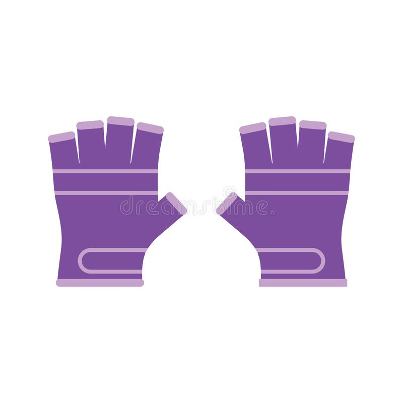 r 平的体育手套象 向量例证