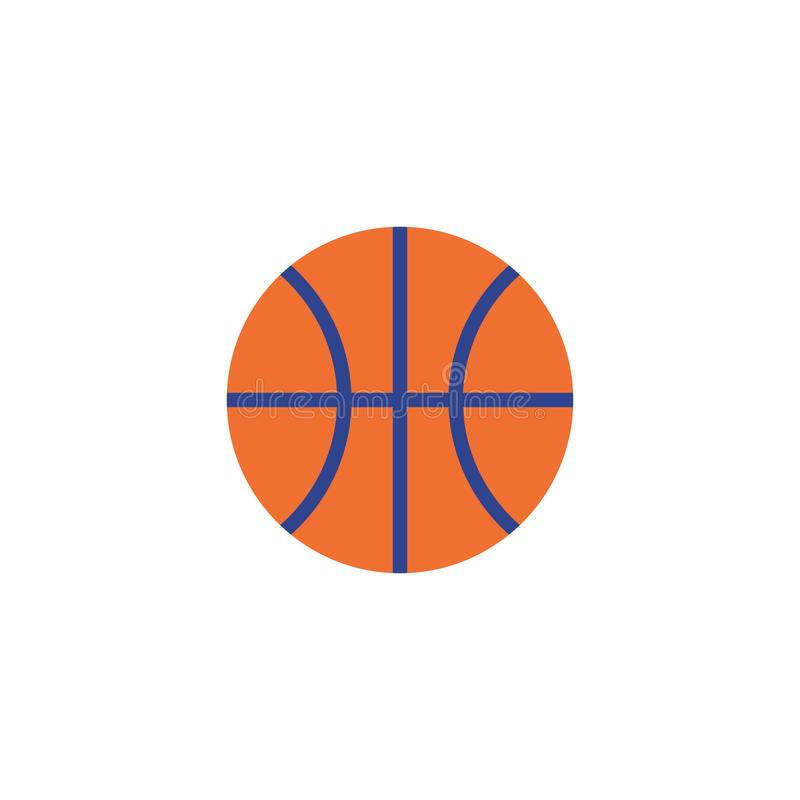 r 平的篮球象 皇族释放例证