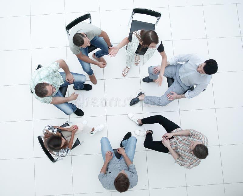 r 成功的年轻雇员队  免版税库存图片