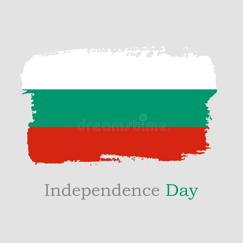 r 手凹道保加利亚旗子 皇族释放例证