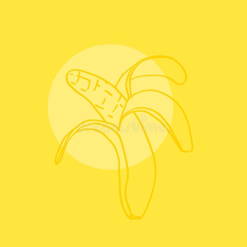 r 手凹道香蕉象 r 库存例证