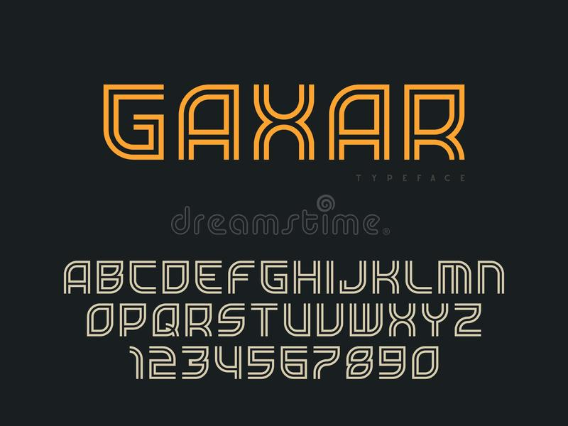 r 抽象线性字体 r 向量例证