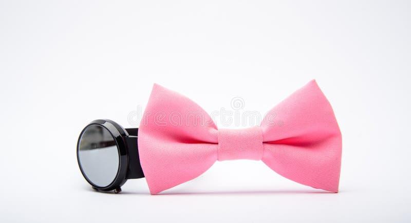 r 时装配件 美学家细节 固定蝶形领结 新郎婚礼 织物弓关闭 ?? 免版税库存图片