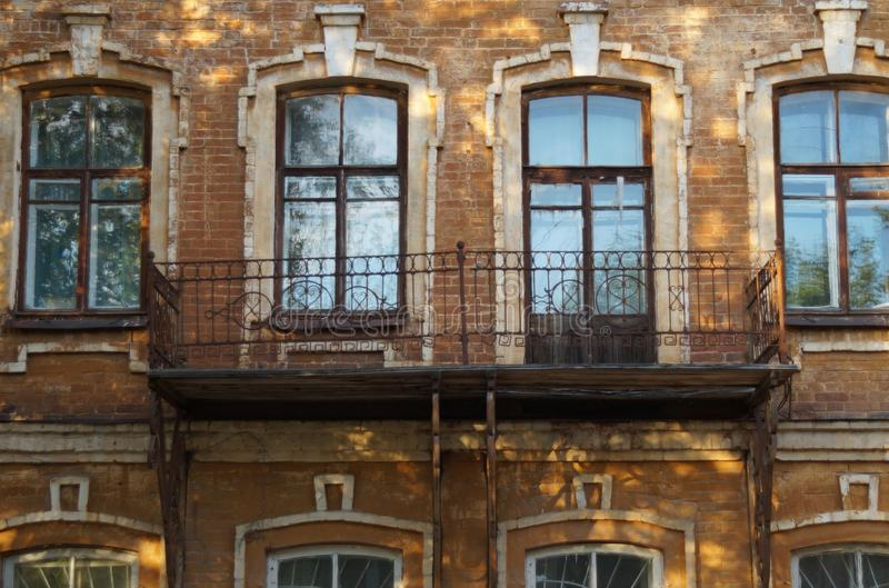 r ?? 果戈理街9 19世纪的建筑学的纪念碑 库存照片