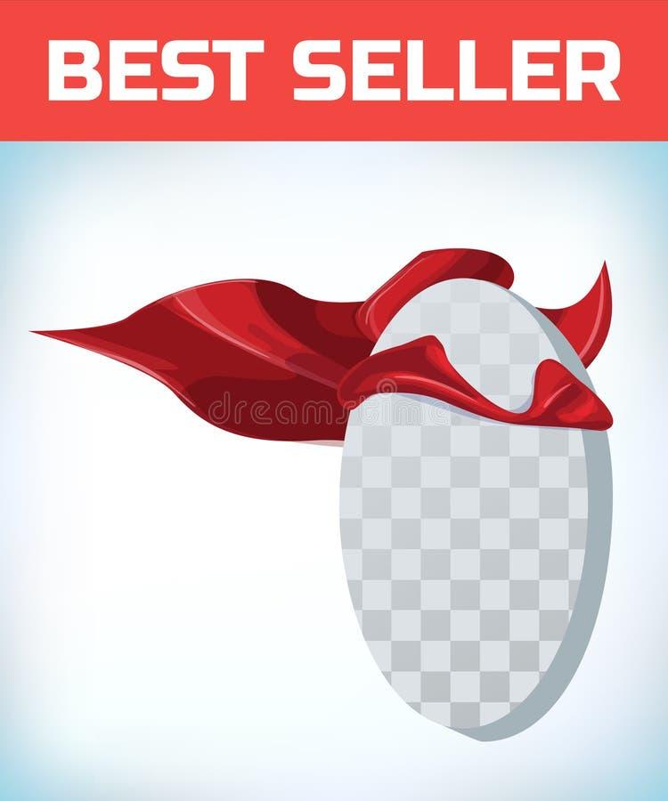 r 特级英雄海角 红色超级斗篷 字符英雄商标 经理领导 r 领导标志 皇族释放例证