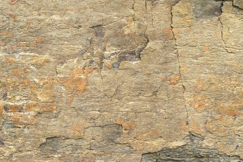 r 米黄砂岩纹理与腐蚀样式的 免版税库存图片
