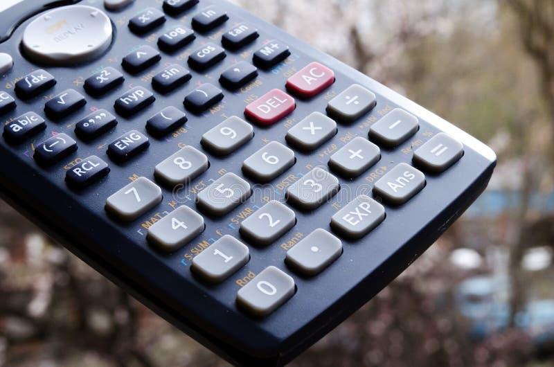r 计算器按钮 在计算器的按钮的数字 计数的设备 ?? 免版税库存图片