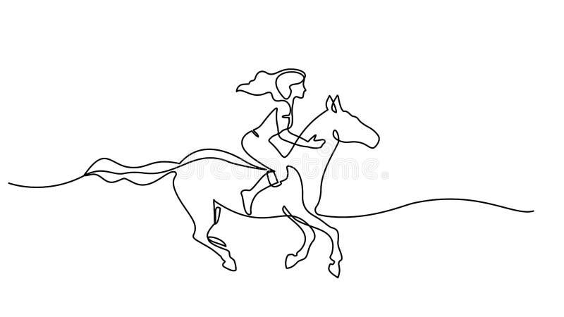 r 骑马的妇女 皇族释放例证
