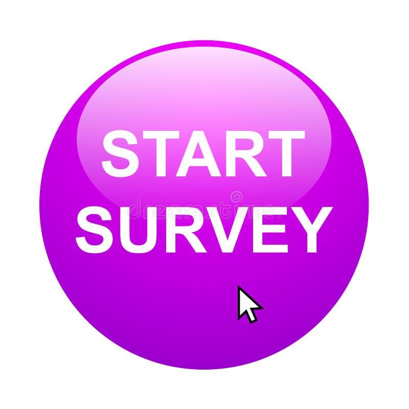 Start survey stock illustration
