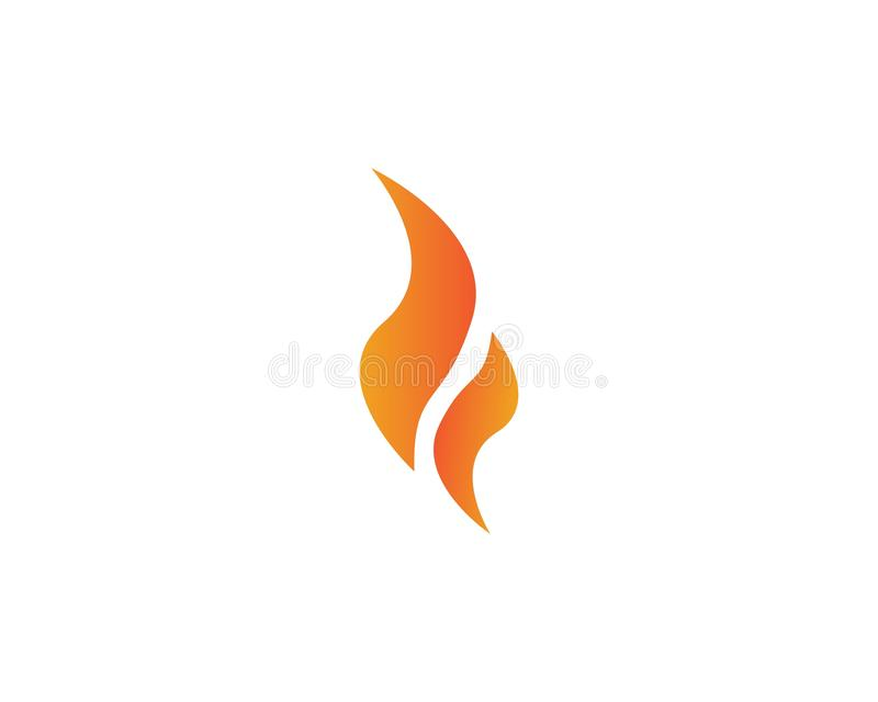 Fire with flame logo royalty free stock photography