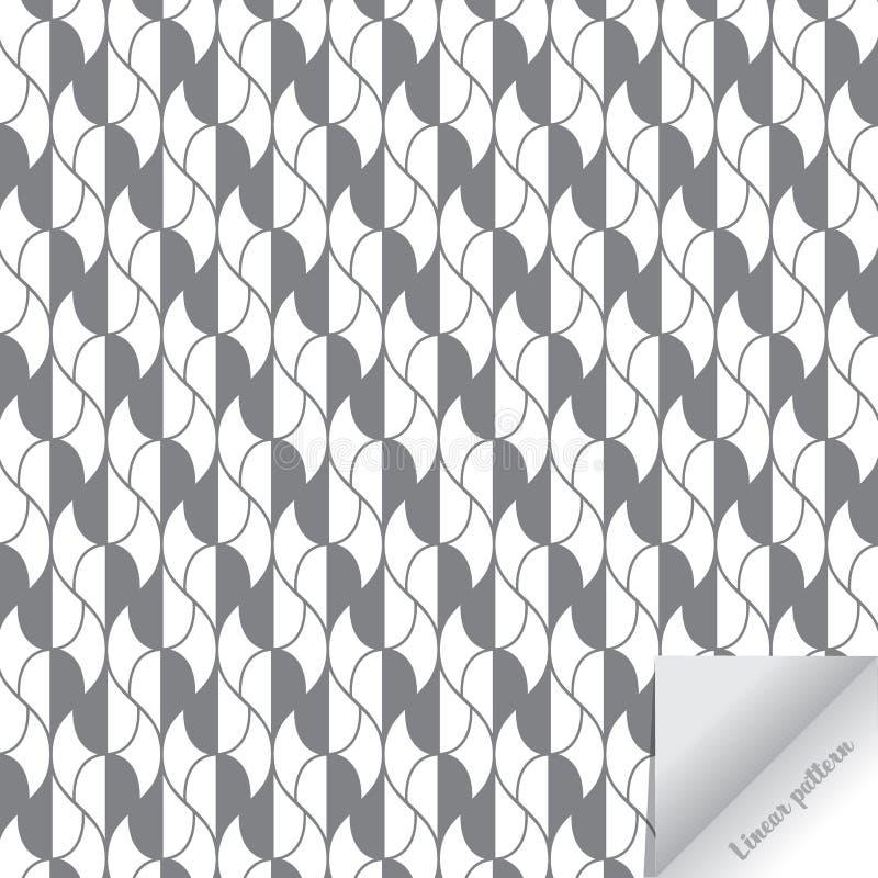 r abstrakt bakgrund Upprepa av geometriska tegelplattor med ett abstrakt ingrepp av droppar och krökt li royaltyfri illustrationer