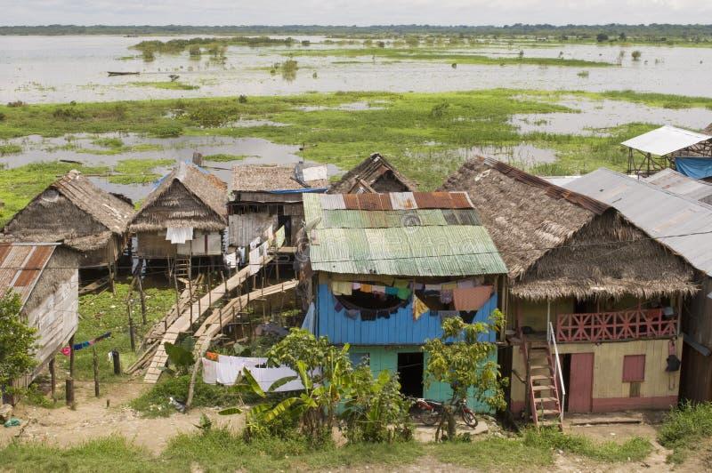r Amazonas wioska obrazy royalty free