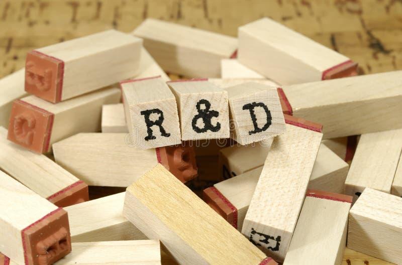 R & D fotografia de stock