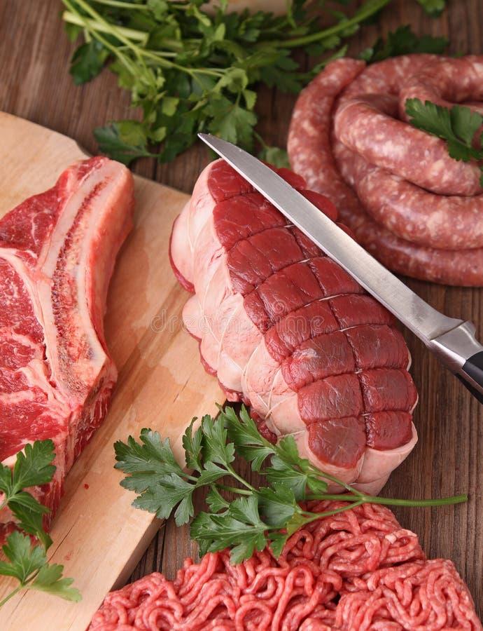 rå nötköttmeat arkivbild