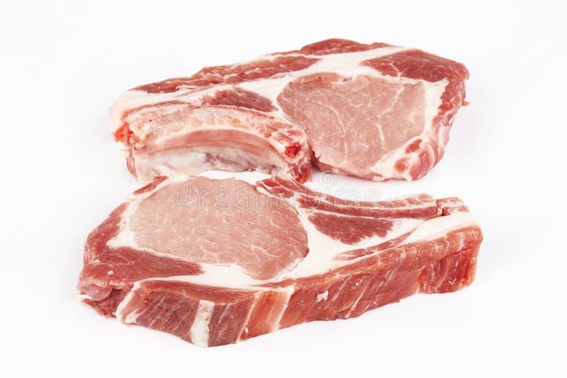 rå pork arkivfoton