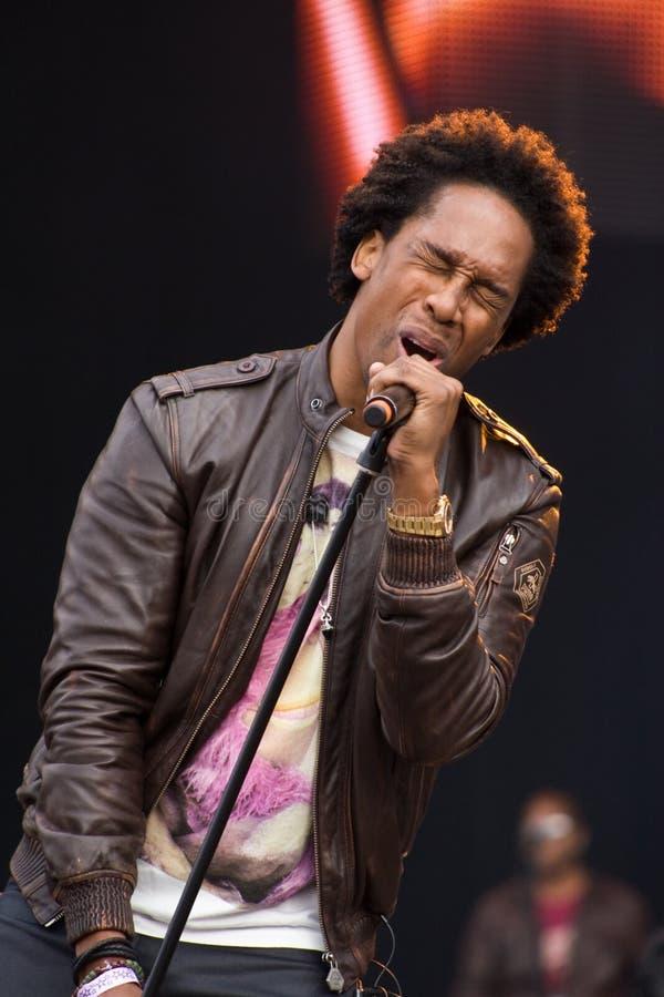 R&B Piosenkarza Lemar spełnianie przy BT Londyn Żyje 2012 fotografia royalty free