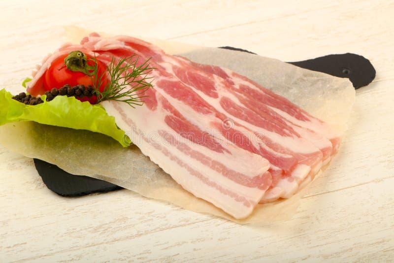 r? bacon royaltyfri bild