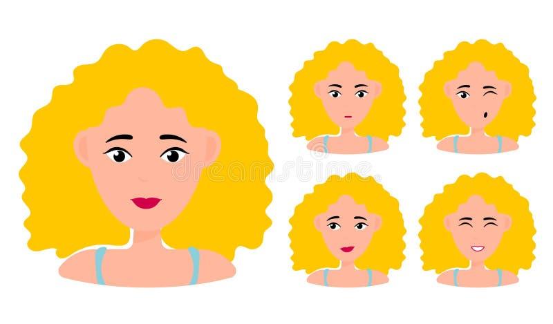 r blond stock illustratie