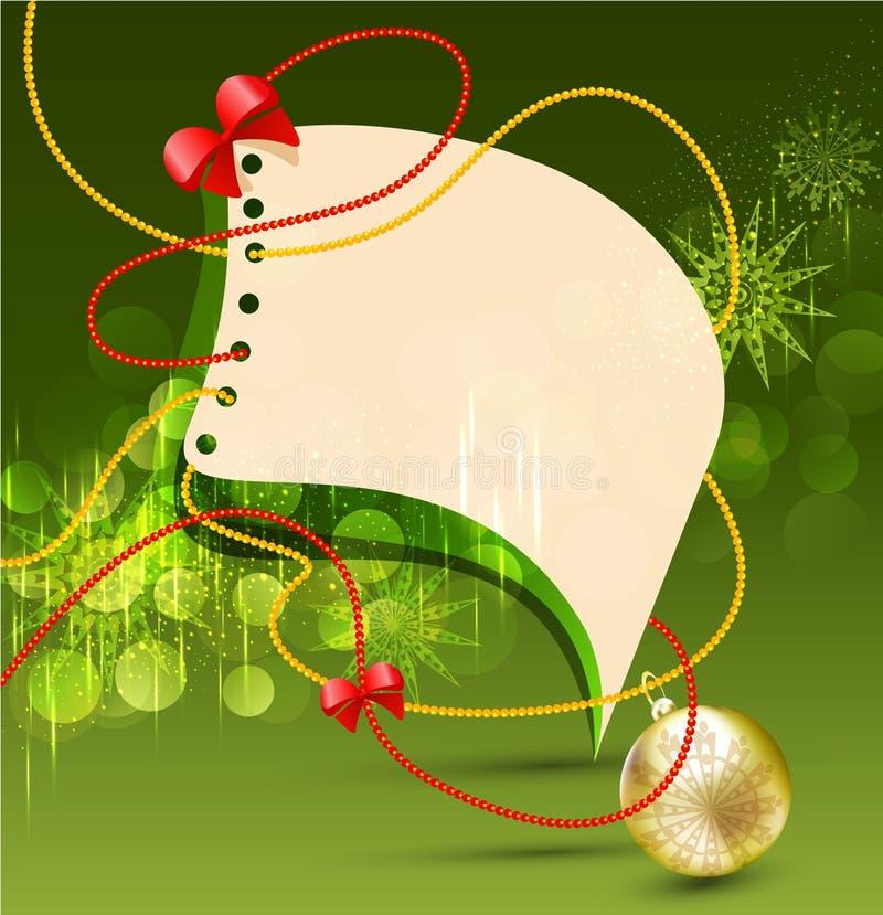 R Bożenarodzeniowego tła z balonami i girlandą ilustracja wektor