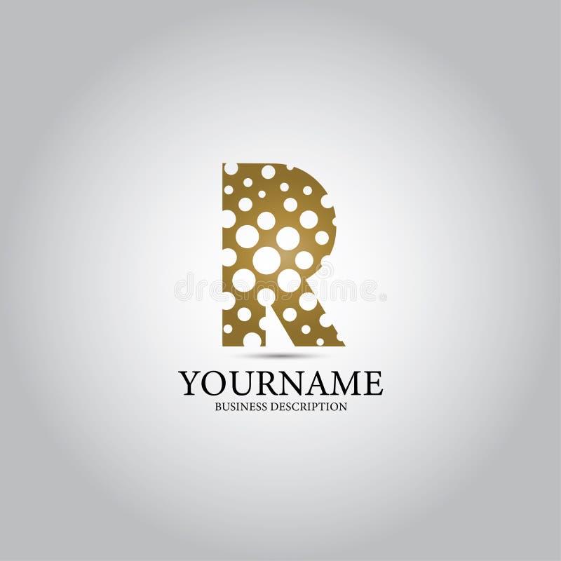 R-bokstav med hållogo royaltyfri illustrationer