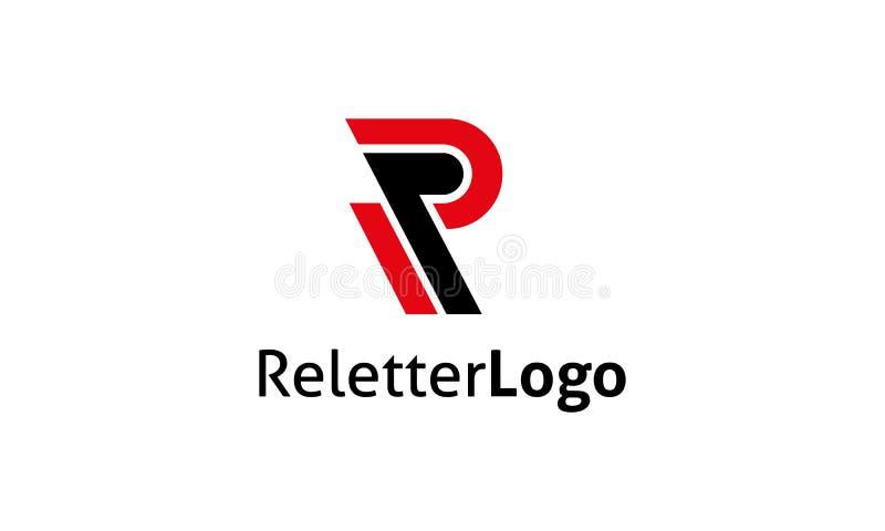 R-bokstavslogo stock illustrationer