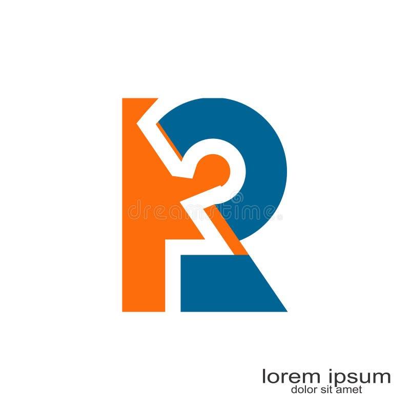 R Brief Logo Design vector illustratie