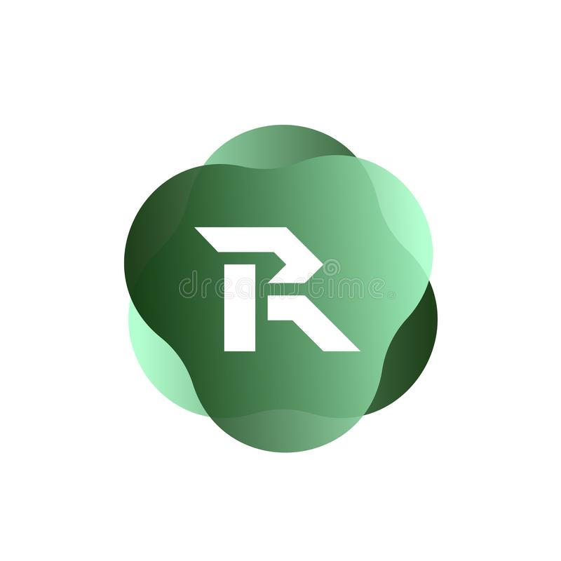 R-Buchstabe-Logo lizenzfreie abbildung