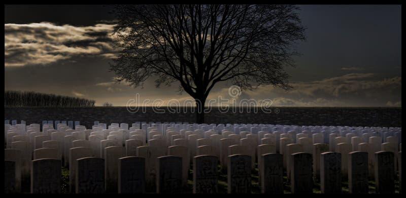 1r cementerio de la guerra mundial imagenes de archivo