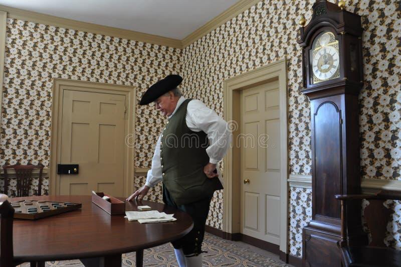 r Charltons kafé i koloniinvånaren Williamsburg, Virginia arkivfoton