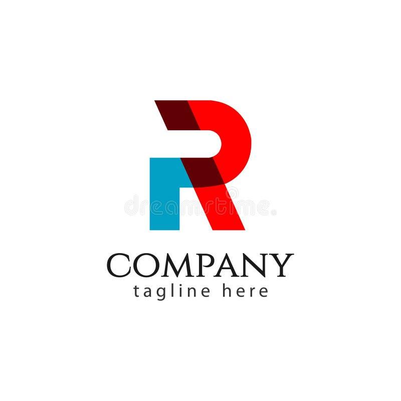 R Company Logo Vector Template Design Illustration stock illustration