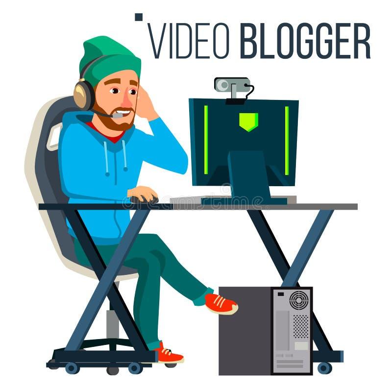 r r Concept het blogging Het video stromen Strategievideospelletje Vlakke vector vector illustratie