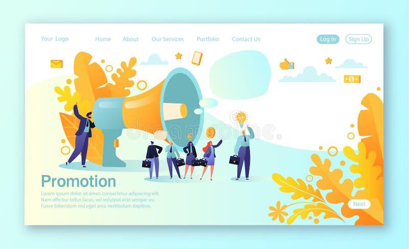 r Concepto de anuncio, márketing, promoción stock de ilustración