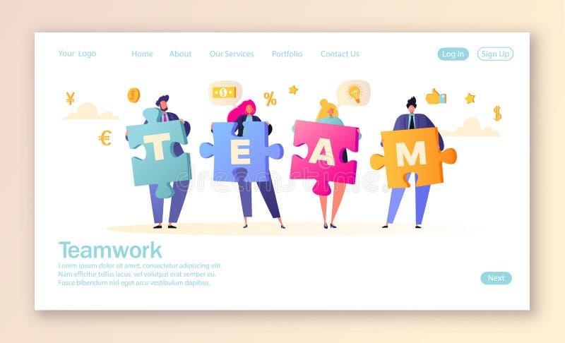 r Concepto del trabajo en equipo del asunto Metáfora de las personas ilustración del vector