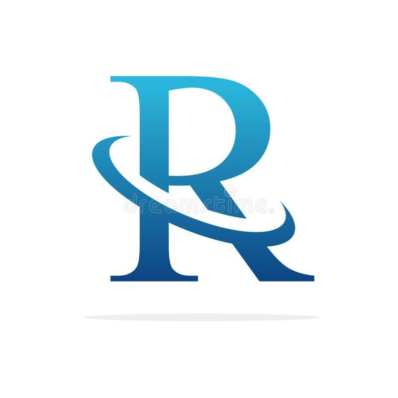 R creative logo design vector art stock image