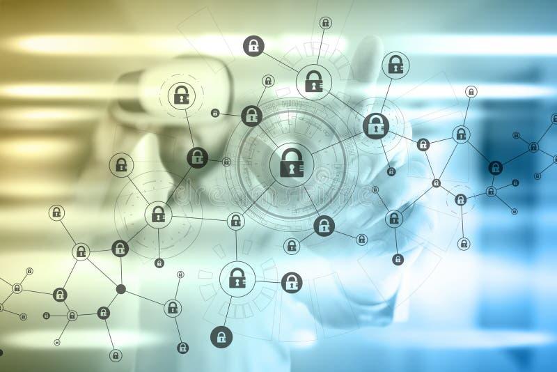 r Cryptocurrency, utajniony dane, cyber ochrona ilustracja wektor