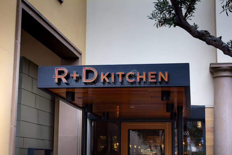 R D厨房餐馆标志 免版税库存图片