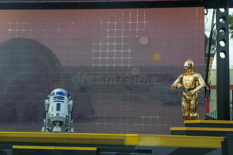 R2D2, C3PO, Disney World, Star Wars, Reise lizenzfreie stockfotografie