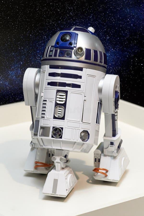 R2-D2 es el carácter de un droid astronómico fotos de archivo