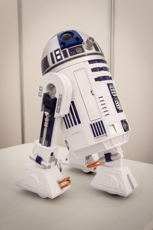 R2-D2 het model bij Robot en de Makers tonen stock afbeeldingen