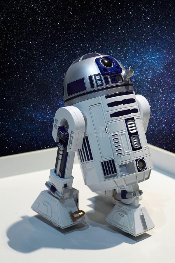 R2-D2 - le caractère du droid astronomique photo libre de droits