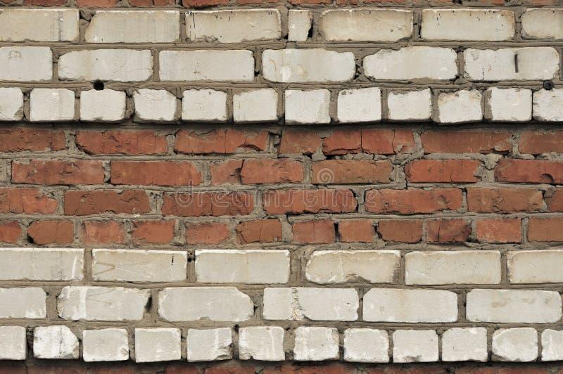 R?d vit v?ggbakgrund Gammal Grungy horisontaltextur f?r tegelstenv?gg Brickwall bakgrund Stonewall tapet Tappningvägg med fotografering för bildbyråer