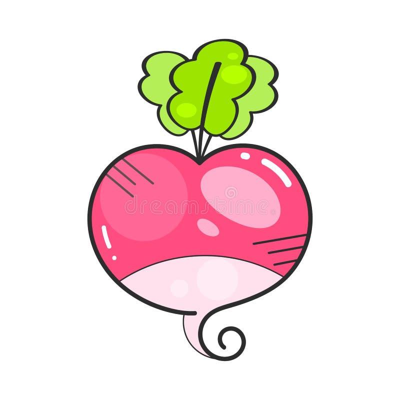 R?disasymbol i plan stil Isolerat objekt, logo gr?nsak royaltyfri illustrationer