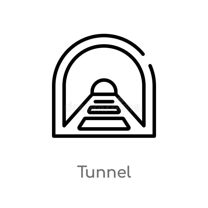 概述隧道传染媒介象 r E 向量例证